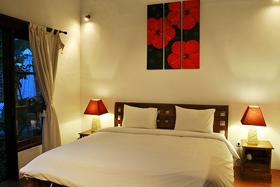 Living Area at Night - Villa Azur
